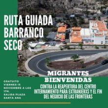 """Viernes 15 de noviembre: Ruta guiada """"Migrantes bienvenidas: contra la reapertura del CIE de Barranco Seco y el fin del negocio de las fronteras"""", en Las Palmas de Gran Canaria"""