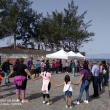 Exitosa Cadena Feminista la llevada a cabo el sábado 15 de febrero en la costa aruquense