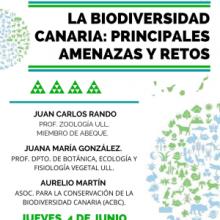 """MESA REDONDA: """"LA BIODIVERSIDAD CANARIA: PRINCIPALES AMENAZAS Y RETOS"""", JUEVES 4 DE JUNIO"""