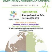 IV Encuentro Internacional de Voluntariado Ambiental en Canarias - Fuerteventura, los días del 23 al 25 agosto
