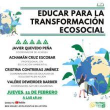 """MESA REDONDA: """"EDUCAR PARA LA TRANSFORMACIÓN ECOSOCIAL"""", JUEVES 11 DE FEBRERO"""