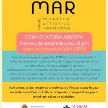 Convocatoria Abierta en Firgas para hablar del proyecto MAR, el viernes 4 de octubre en LA CASA VERDE